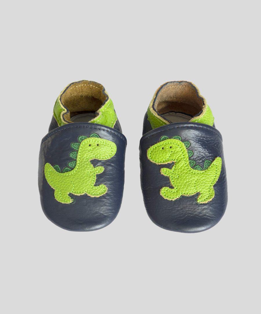 Кожени пантофки с драконче
