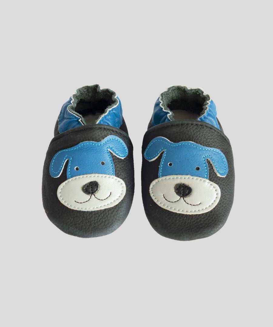 Кожени пантофки с кученце
