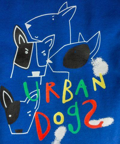 Блуза с дълъг ръкав и принт 'urban dogs'