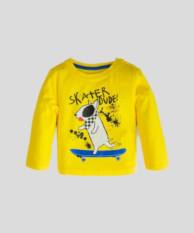 Блуза с дълъг ръкав и принт 'skater dude'