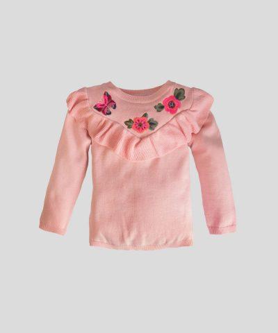 Пуловер с бродирани мотиви