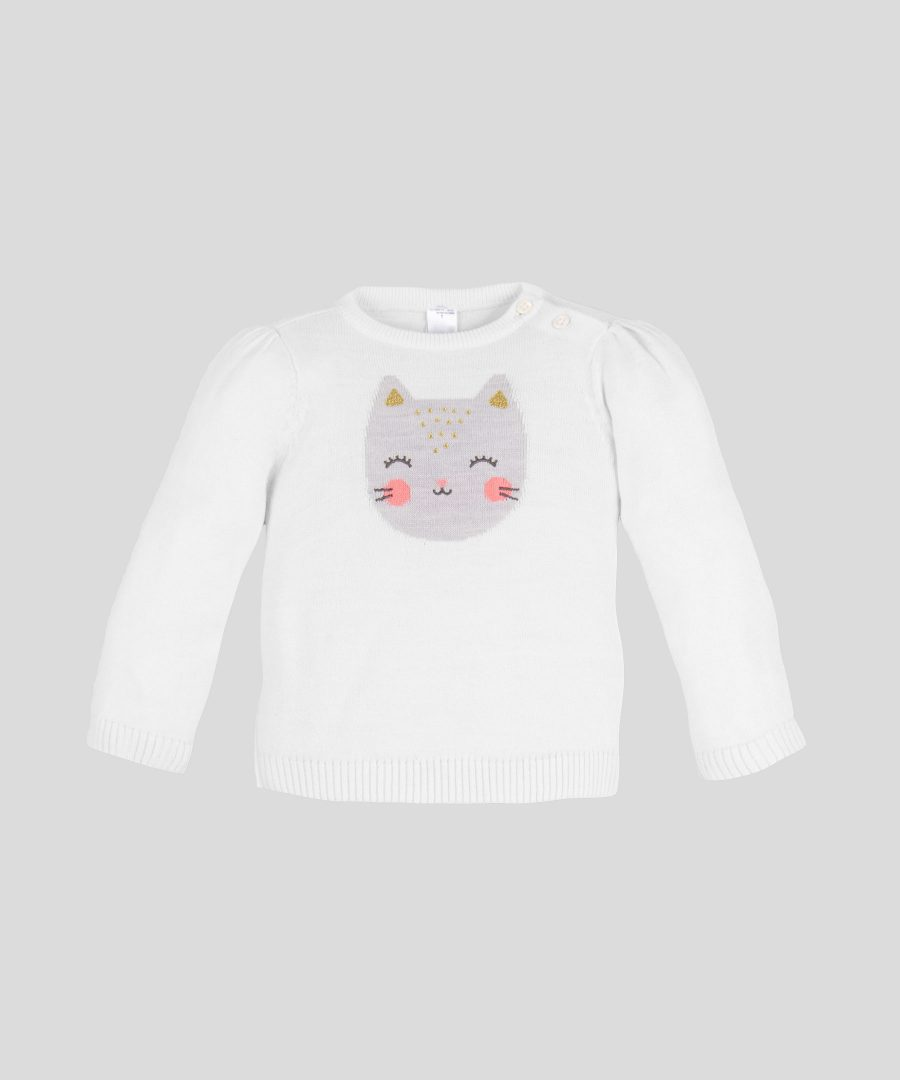 Пуловер с коте