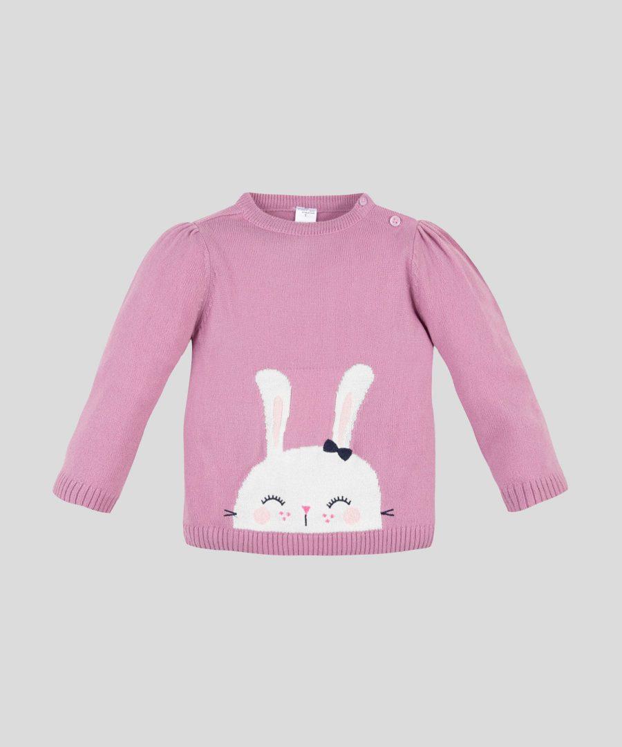 Пуловер със зайче