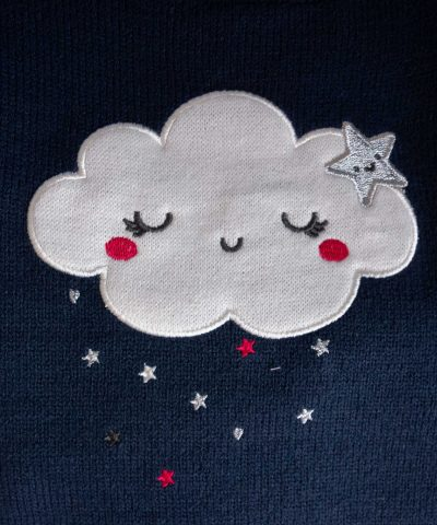 Пуловер с облаче в тъмносин цвят