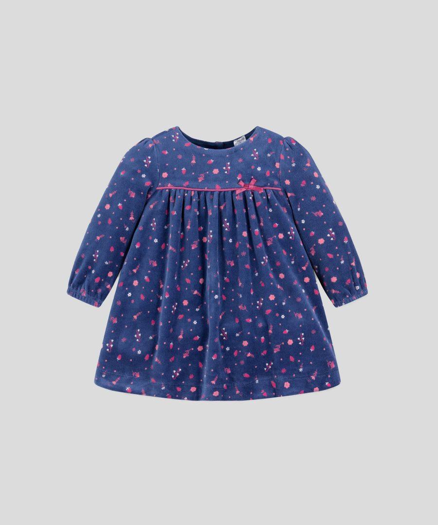 Кадифена рокля от органичен памук