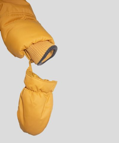 Водоустойчиво яке в цвят горчица
