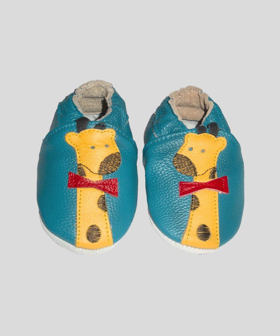 Кожени пантофки с жирафче