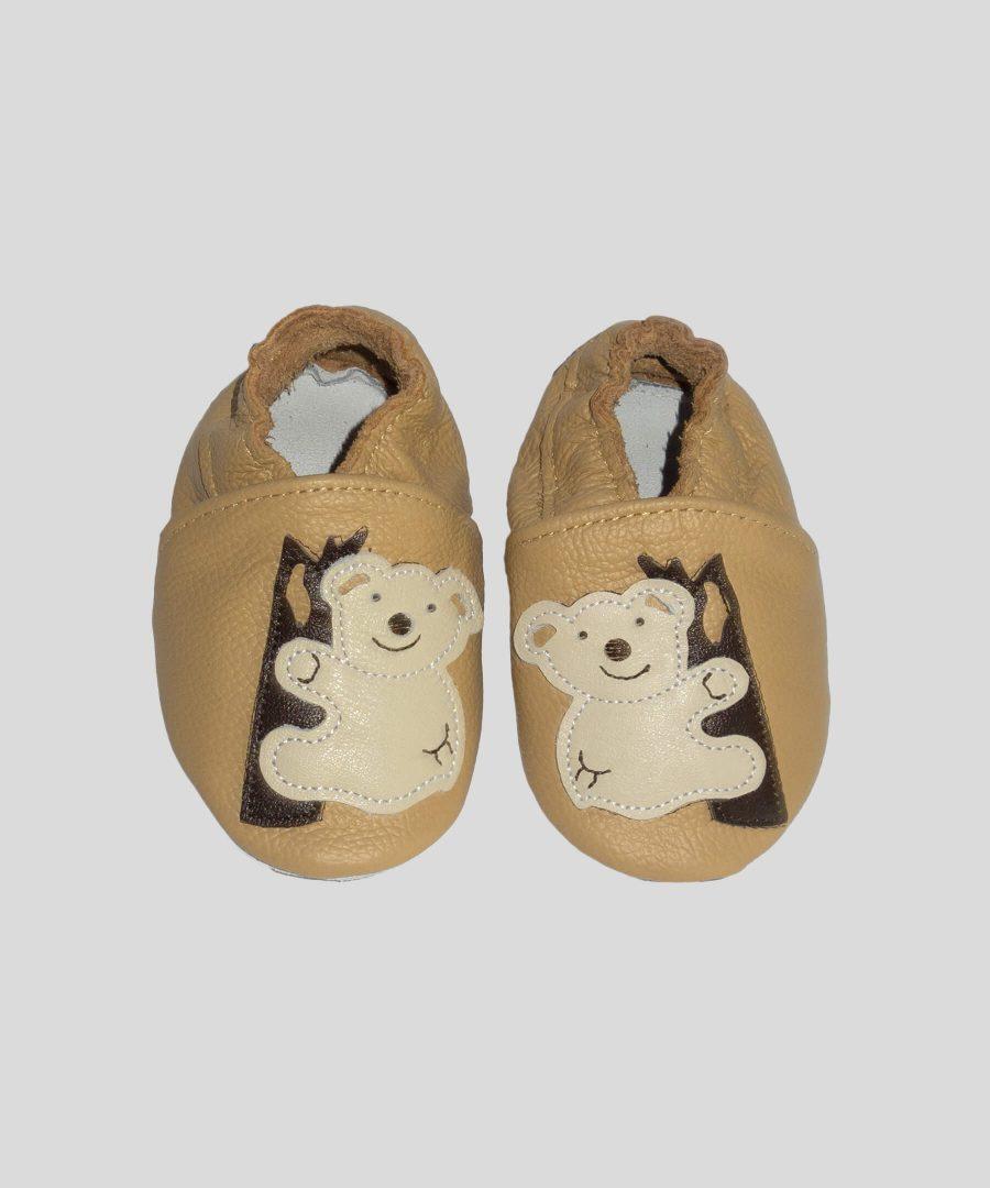 Кожени пантофки с коала