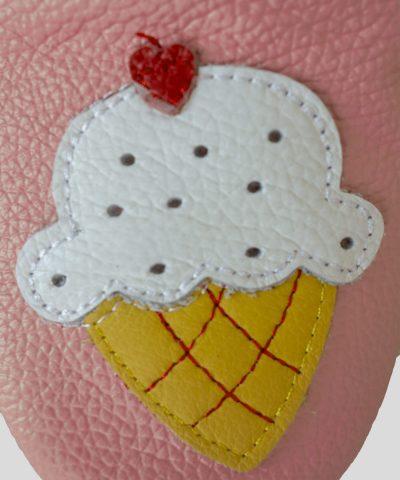 Кожени пантофки със сладолед