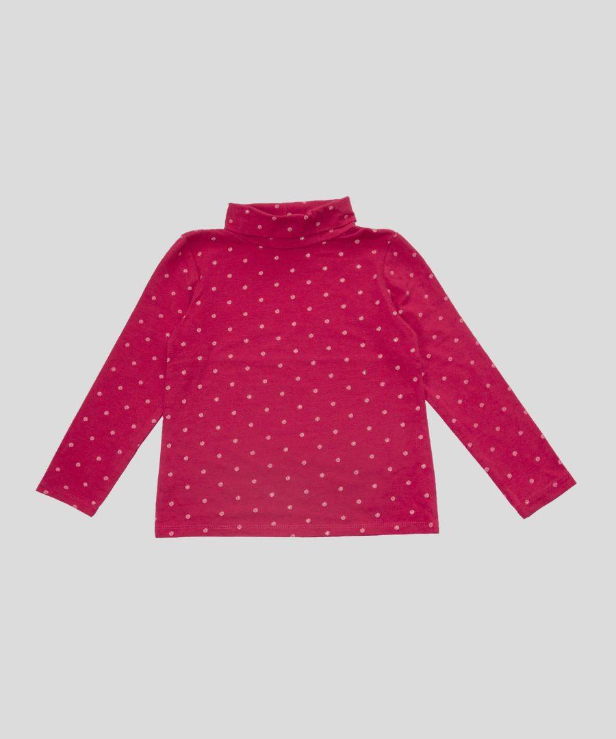 Поло с цветенца от 100% био памук за момиче