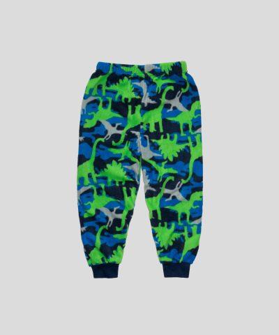 Детска пижама от полар с динозаври за момче