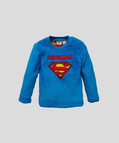 Детска пижама от полар със супермен за момче