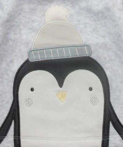 бебешки плюшен комплект с пингвин от био памук