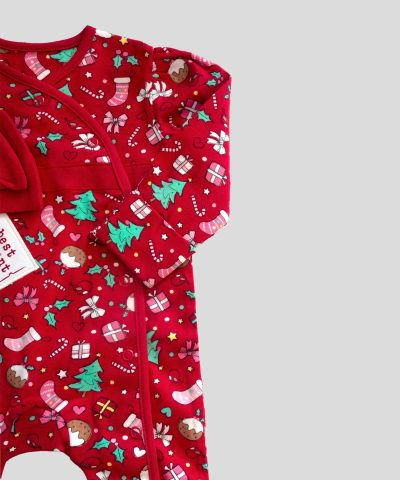 Коледен гащеризон за момиченце