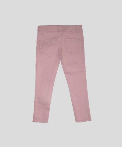 Детски панталон в розов цвят за момиче