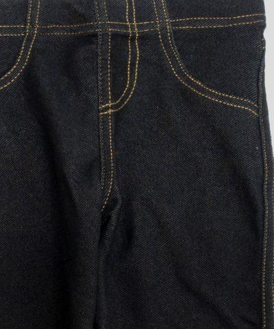 Клин с дънков ефект в черен цвят за момиче