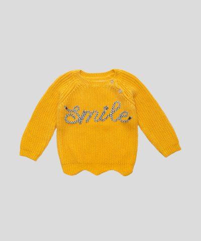 бебешки пуловер с апкикация smile