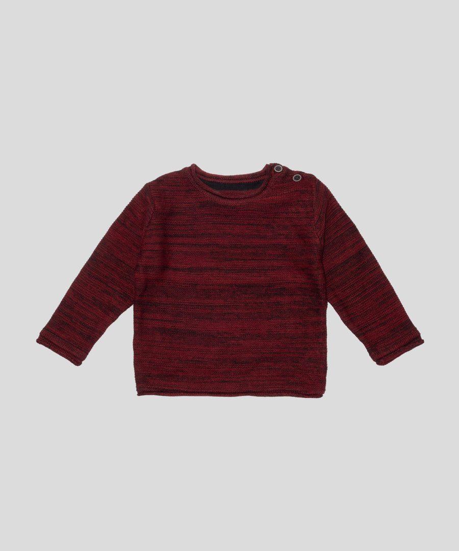 Бебешки и детски пуловер в цвят бордо за момче