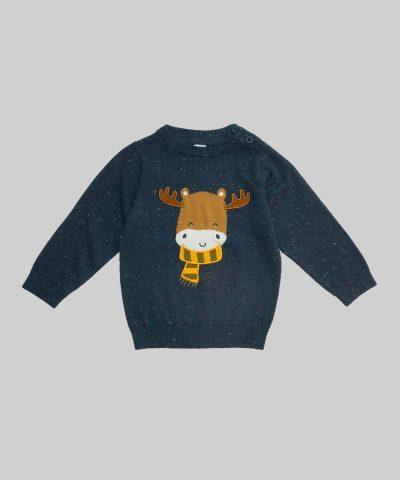 Пуловер с елен