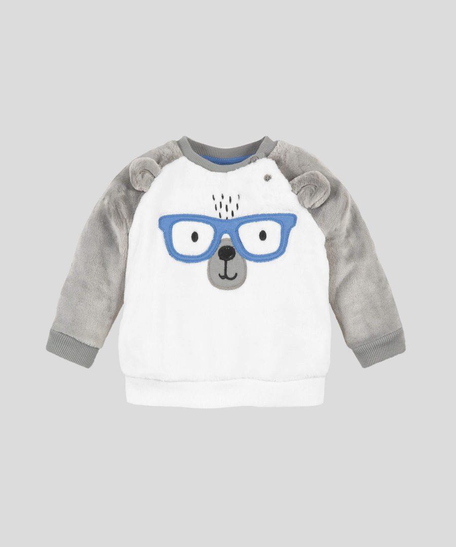 Бебешка термо блуза с мече