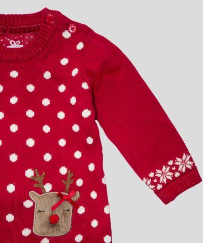 Коледна рокля с чорапогащник