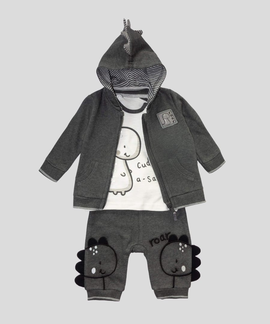 бебешки комплект от 3 части Дино за момче