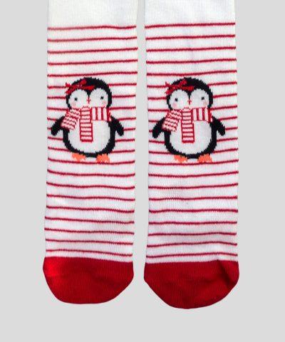 Коледен чорапогащник с пингвин