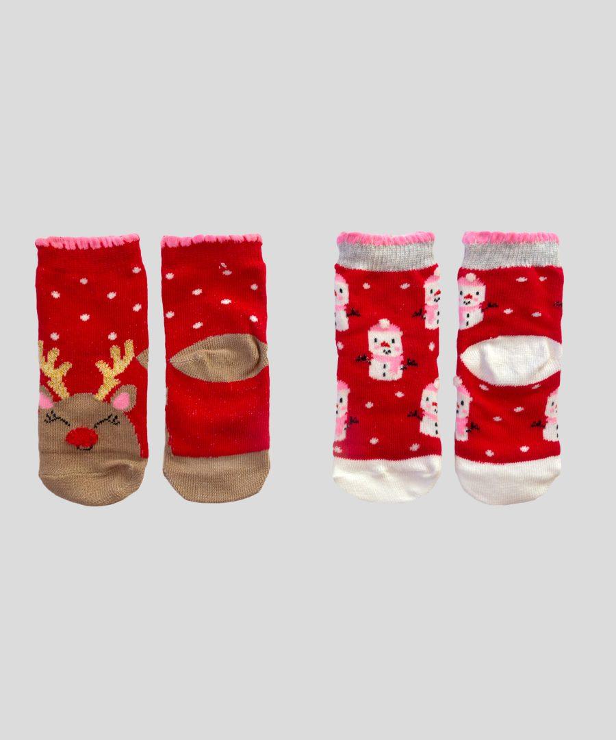 Комплект 2 чифта Коледни чорапи