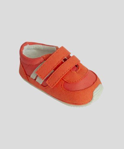 бебешки маратонки в цвят корал