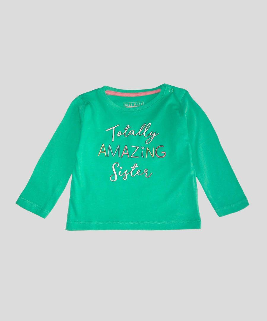 бебешка блуза 'totally amazing sister' за момиче