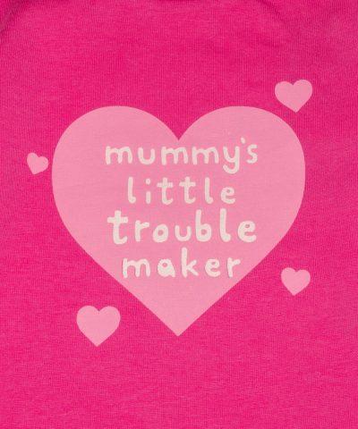 бебешка блуза mummy's little trouble maker за момиче