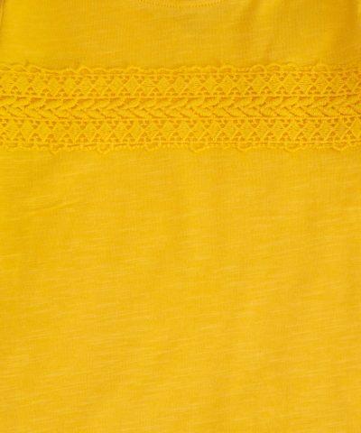 Бебешка и детска блуза в жълт цвят