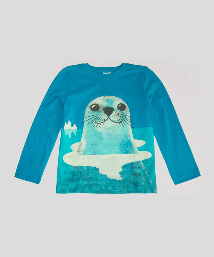 детска блуза с тюлен за момче