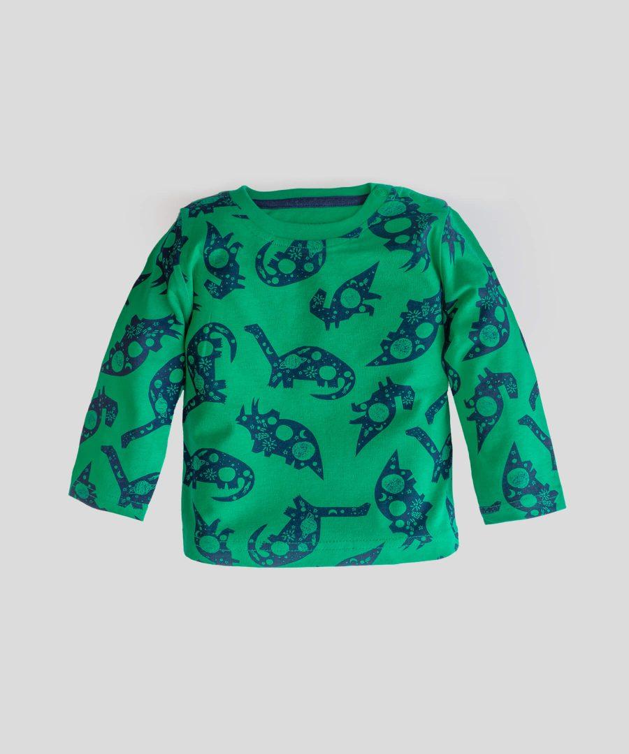 бебешка блуза с динозаври за момче