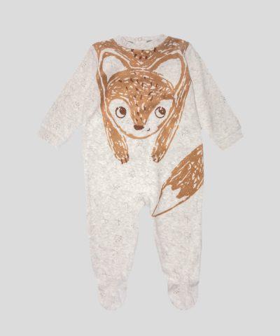 бебешки и детски Гащеризон от плюш с лисица