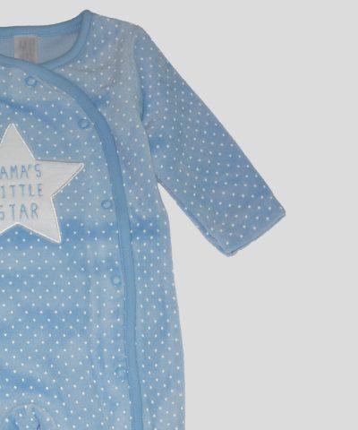 бебешки гащеризон от плюш Mama's little star за момче