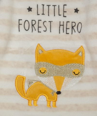 бебешки плюшен комплект Little Forest Hero от био памук