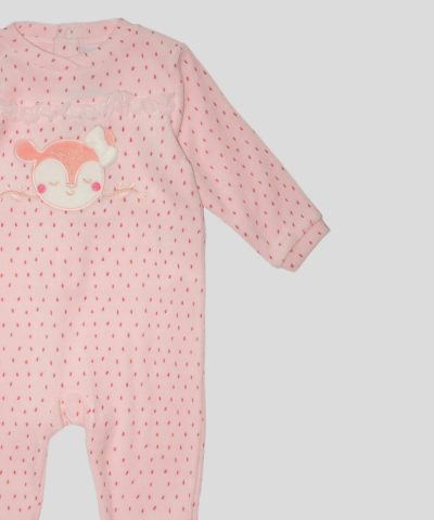 бебешки и детски Гащеризон от плюш със сърничка