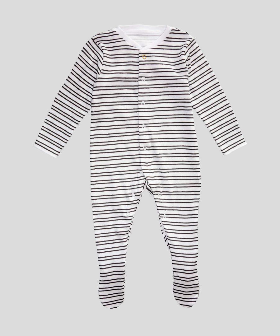 гащеризон черно-бяло райе за бебе