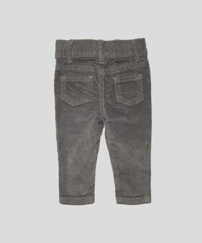 бебешки и детски Панталон от кадифе в сив цвят