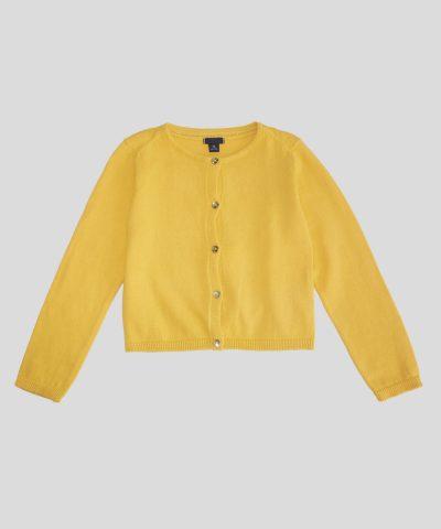 детско болеро в жълт цвят за момиче