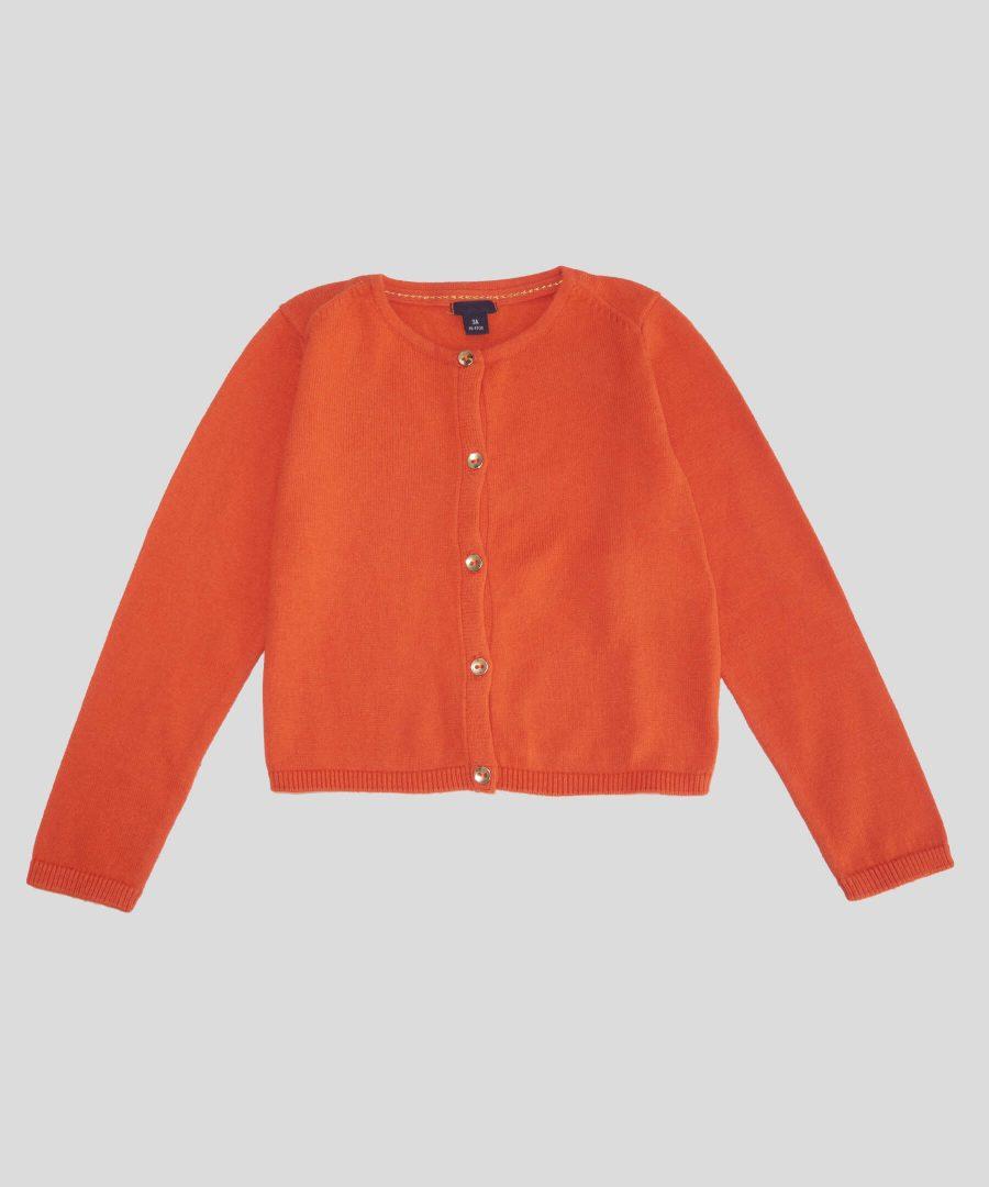детско болеро в оранжев цвят за момиче
