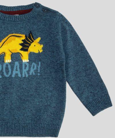 бебешки пуловер с динозавър за момче