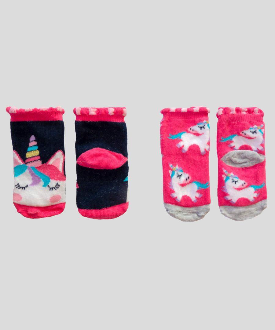 бебешки комплект 2 чифта чорапи с еднорози