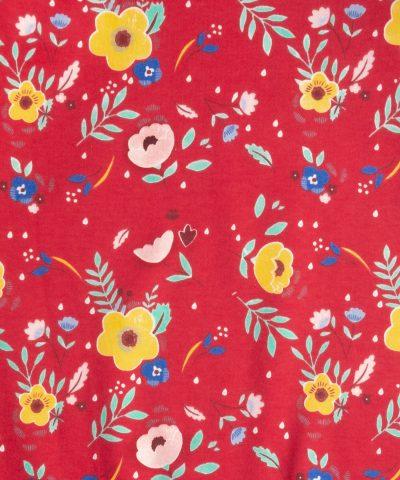 бебешки гащеризон с цветя в червен цвят