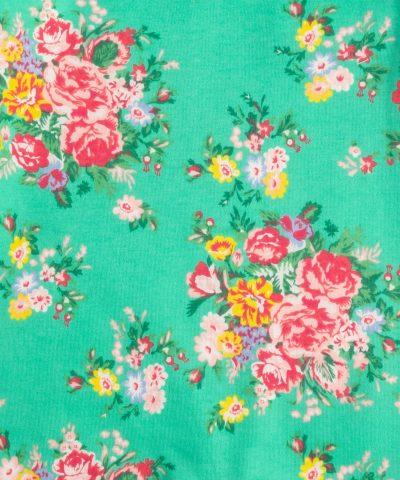 бебешки гащеризон с цветя в цвят тюркоаз