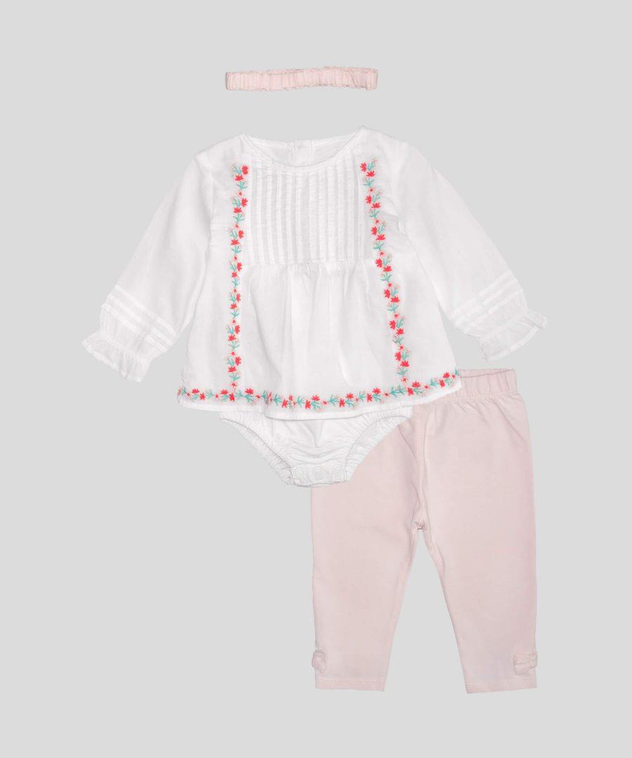 бебешки Комплект от 3 части с цветенца