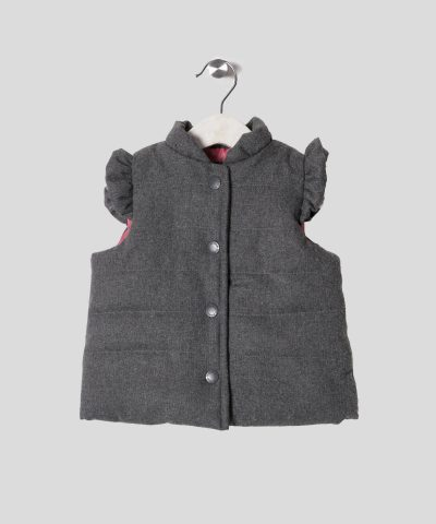 елек в сив цвят за бебета и деца