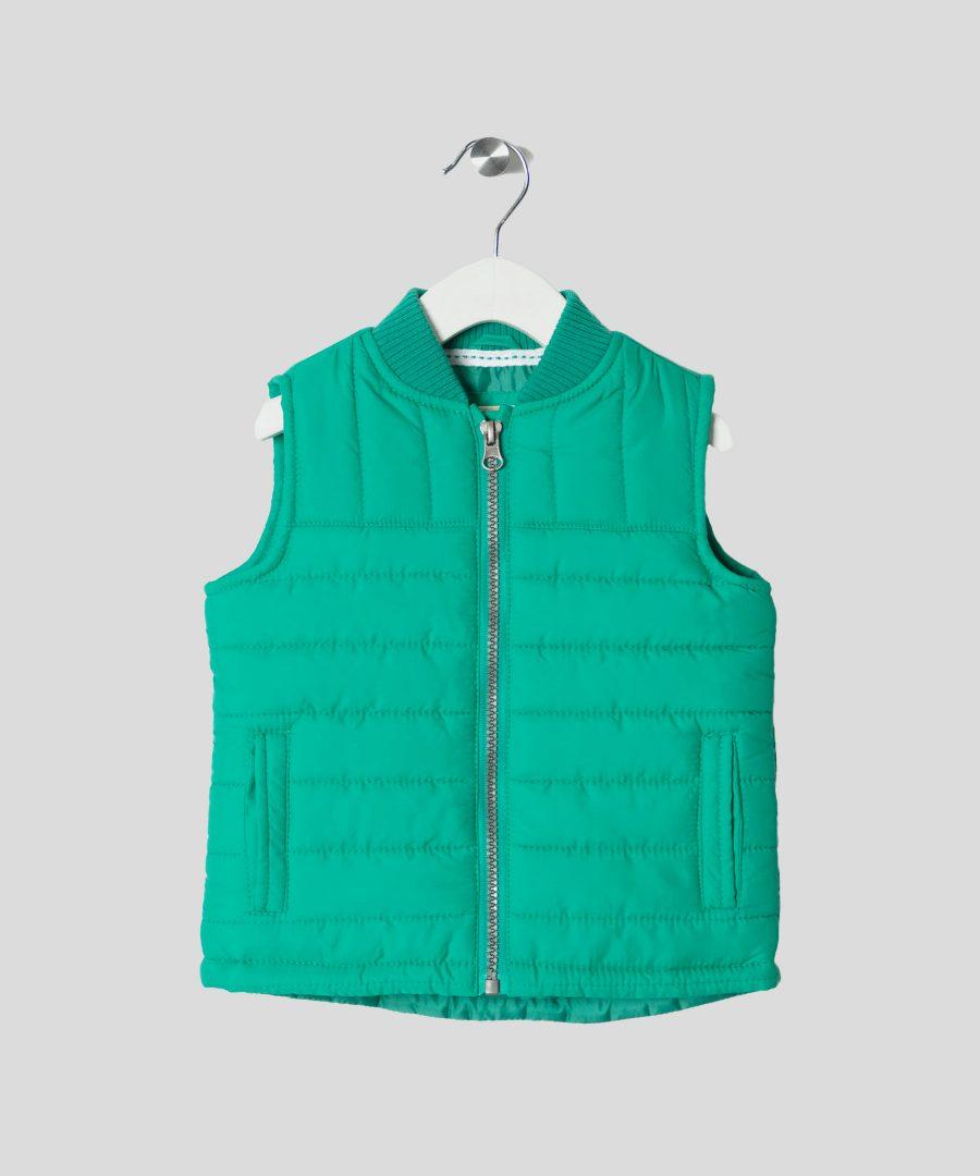 елек в зелен цвят за бебета и деца