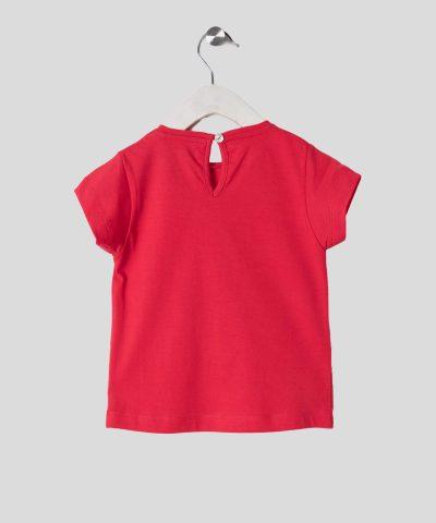 тениска с панделка от сърца за бебета и деца